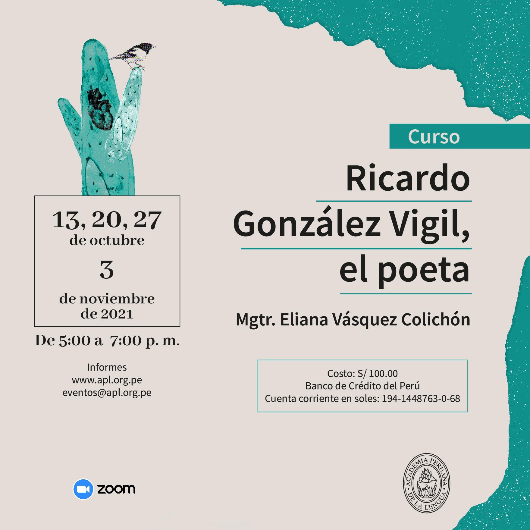 Curso «Ricardo González Vigil, el poeta»